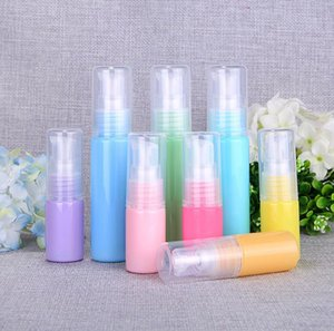 10ml Macaron Empty PET Plastic Colorful Bottle Portable Travel Packing Cosmetic Containers For Perfume Hand Sanitizer SN818