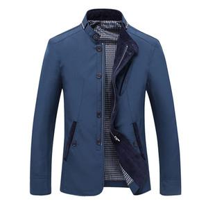 Plus Size 2019 Spring Autumn Men Jacket Coat Streetwear Long Sleeve Pocket Stand Collar Zip mens jackets and coats cazadora homb