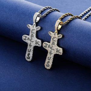 Micro мощеные Цирконий Bling Ice Out Cactus Jack Подвески Ожерелье для мужчин Женщины Hip Hop Рэппер ожерелье