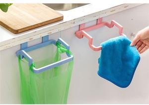 Bolsa de basura simple Plástico Color puro Colgando Trapo Titular Estante del hogar Ajuste Baño Suministros de cocina 0 95oh E1