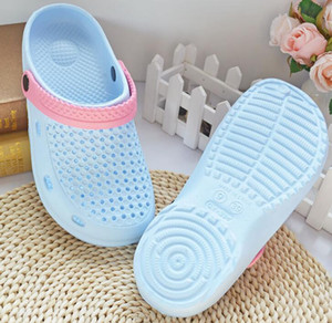 New summer men and women hole shoes children sandals breathable flat sandals garden couple small hole non-slip sandals WY591
