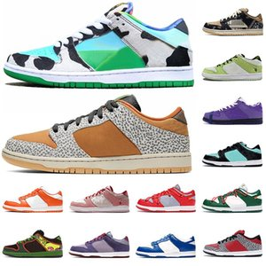 SB Dunk Low Designer authentique Skateboard Sneakers Safari Chunky Dunky Femmes Hommes Blanc off Chaussures Casual travis mode Formateurs