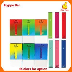 HYPPE BAR à usage unique appareil Pod Kit 280mAh batterie de cartouches anti fuite Vape Pen Bars VS Puff, augmenté du flux