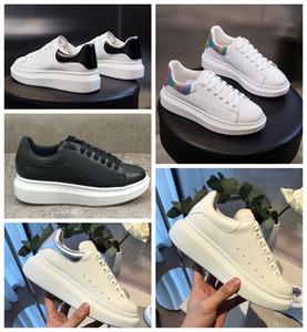 Sapatos de grife de luxo Das Mulheres Dos Homens Das Sapatilhas Das Meninas Das Mulheres Flange De Couro Wrap Sapatos Casuais Clássicos Balck Puro Branco homens mulheres sapatos formadores