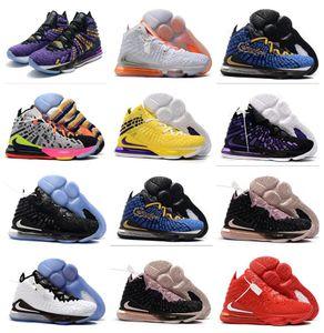 상자 17S 최고의 남자 농구 신발 2020 새로운 르브론 17 XVII 낮은 조정 분대 뜨거운 판매는 어린 소년 어린이 상점 도매 배송비 무료