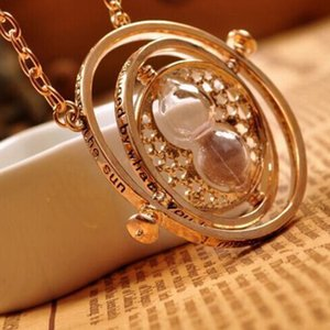 6pcs Hermione Granger Rotating Horcruxe temps Turner Collier temps Convertisseur Flywheel Timing pendentif collier pour femmes mwn 6 couleurs