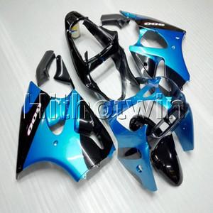 23colors + 8Gifts injeção mofo azul capuz motocicleta preta para a Kawasaki ZX6R 00 01 02 ZX6R 2000 Fairing 2001 2002 ABS motor de plástico