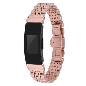 Armband Armband für Fitbit Inspire HR Edelstahl Metall Smartwatch Ersatzband Armband für Fitbit Inspire