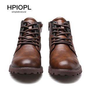 European Style Dress Martin Boots Boots plus Size Zip Short Boots Mens Autumn And Winter High Shoes Retro Desert Tooling