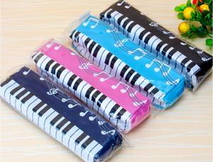 Müzik sembolü piyano Kalem Kutusu Saklama Çantası Taşınabilir Kalem Kutusu İçin Öğrenci Kalem Çantası Fermuar Kalem Çanta Kırtasiye