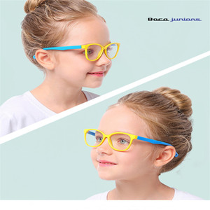 Baby Anti-blue Light Silicone Glasses Children's Frame Glasses Goggles Plain Soft Children Eye Fame Eywear Fashion E0013