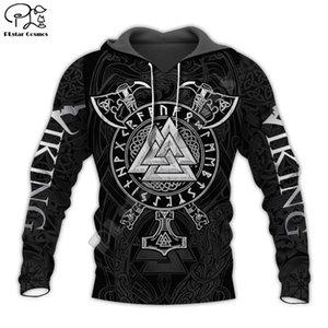 PLstar Cosmos Viking Warrior Tattoo New Fashion Tracksuit casual 3DfullPrint Zipper Hoodie Sweatshirt Jacket Mens Womens style-6 Y200704