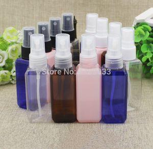 10 30 50pcs Empty Spray Bottle 50ml Square Cosmetics Plastic Travel Spray Bottle Perfume Atomizer Cosmetics Sub-bottle