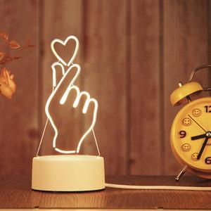 3D LED лампы Creative 3D LED Ночные огни Новинка Иллюзия ночника 3D Illusion Настольная лампа для домашнего декоративного света 10043