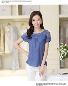100% Cotton Plain Blank Cheap Work Short Sleeve Womens Plain T-shirt Size S-xxl --ziji-bu Y19060601