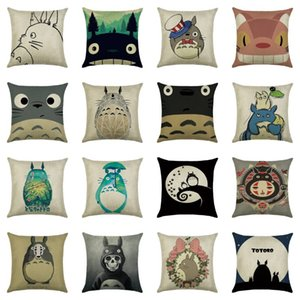Anime chinchilla Totoro pillow Cases Cushion Cover Pillowcase linen cotton Home Soft Square Throw Pillow Case Christmas gift
