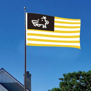 Мэнни Флаг выцветанию Символ единства и мир Флаг Сад Патио Американских Сувенирные Желтая Белые нашивки Flag