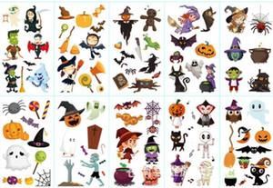 Vendita calda di Halloween Pumpkin tatuaggio temporaneo tatuaggio rimovibile autoadesivo del corpo del PVC Birthday Party Decoration rifornimenti di favori per bambini ragazzi ragazze Giocattoli