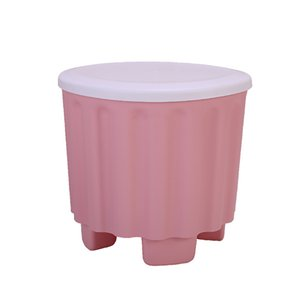 29*27CM Plastic Storage Stool Multifunctional Stackable Storage Stool Fashion Creative Adults Can Sit Green Blue Pink Apricot