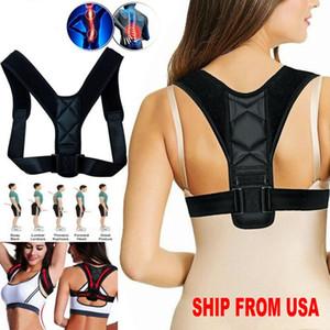 US Stock Female Adjustable Magnetic Posture Corrector Corset Back Brace Back Belt Lumbar Support Straight Corrector Despalda S-XXXL FY4068