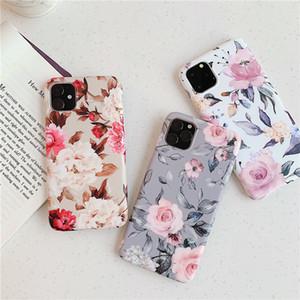 Esnek Yumuşak Slim Fit Tam Around the Koruyucu Sevimli Telefon Kılıfı Kapak iPhone 11 Pro Max X XR XS Max 8 7 6S 6 Plus Çiçek Desen Kapak için