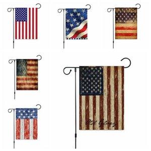 Bandeira do Dia da Independência EUA Printing Garden bandeira quarto de julho banners Suspensos Outdoor Indoor Home Decor 16 Designs LXL54-1 Atacado