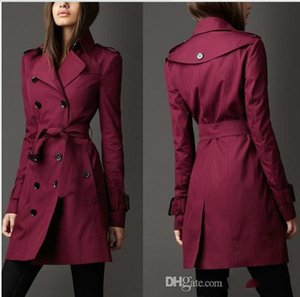 2019 Autumn New Women cardigan Trench coats for Coat Long Windbreaker Europe America Fashion Trend Double-Breasted Slim Long Trench