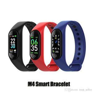 M4 intelligente Banda Fitness Tracker Bracciale frequenza cardiaca di sport intelligente Guarda 0.96inch Smartband Health Monitor Wristband PK mi Band 4 DHL