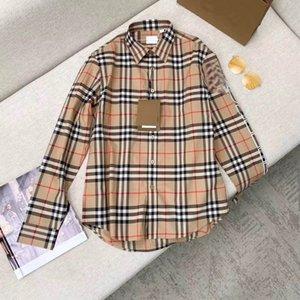 2020 estate di lusso BUR Outfit Designer Brand Insta Luxury Fashion Blouse polo casuale del progettista di lusso di alta qualità per le donne e gli uomini Unisex
