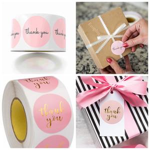 Pink Thank You Наклейки Розовый Наклейки для компании Giveaway Birthday Party Благоприятная Этикетки Mailing Канцелярские товары Этикетка 1in