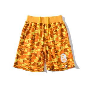 Летний новый мужской Orange Camo Casual пляж шорты Мужчины Женщины Сыпучие Спорт Hip Hop Шорты Брюки