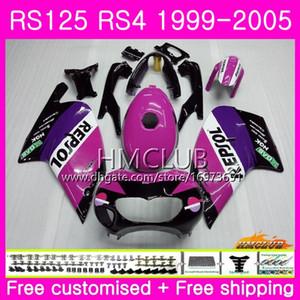 RS125R For Aprilia RS 125 1999 2000 2001 2002 2003 2005 40HM.7 RSV125R RS4 RS-125 RSV125 R RS125 99 00 01 02 03 04 05 Repsol Rose Fairing