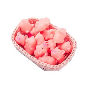 Bagnetto maiale rosa giocattolo Mini giocattolo di gomma del maiale con il suono di BiBi piscina di acqua Giocattoli di divertimento per i bambini doccia Giocattoli M1067