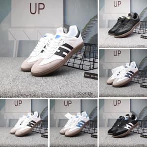 Adidas Zapatillas de deporte de samba de alta calidad para hombre Zapatillas deportivas de diseño de marca de cuero gacela og Negro Hombres Casual para mujer deportes Zapatillas