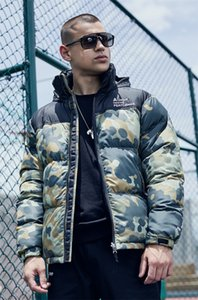 Letter Embroidery Mens Designer Cotton Jackets Fashion Loose Camouflage Panelled Mens Zipper Cotton Jackets Casual Pockets Males Clothing