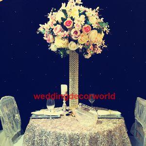 Yeni kaide düğün yuvarlak ayağı cam kaide silindir vazo ile çiçek parti için sütun standı parti decor0728