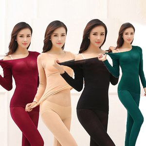 Thermal Underwear For Women Plush Warm Long Johns Seamless Winter Warm Thermos Clothing Women Men Thermal Underwear Set Women