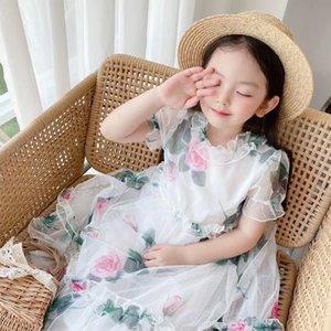 Girl Summer Dress Tutu Dress Kids Girls Wedding Princess Lace Flower Dresses Toddler Ruffles Party Sundress