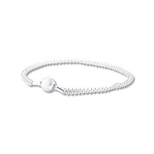 100% Argent 925 perles Essence Bracelet chaîne Charms Bracelets pour femmes Convient petit trou Perles Bijoux Faire pulseira