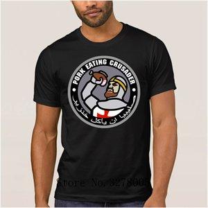 Designing Pork Eating Crusader Deus Vult T Shirts For Men Cute T-Shirt For Men Summer Euro Size S-3xl Unisex Men's Tee Shirt