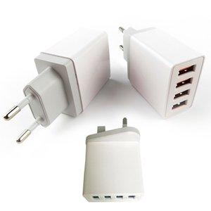 4 Port Hızlı Şarj Seyahat Chargering Mini iPhone Samsung Adaptör AB / ABD için 4 USB Direct Şarj / UK Tak Sıcak Satış Hızlı Şarj Beyaz