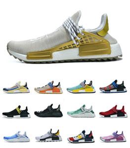 2019 NMD insan ırkı Erkekler Kadınlar Koşu Ayakkabı Tasarımcısı Ayakkabı Pharrell Williams Siyah Beyaz Gri primeknit PK Runner XR1 R1 R2 Spor Sneakers