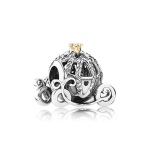 Authentic 925 Sterling Silver Pumpkin Charm Set Scatola originale per Pandora Bracciale FAI DA TE perline di cristallo Charms accessori moda classica