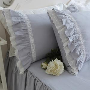 Europa camadas de bolo de Luxo irritar fronha rugas artesanal fronhas elegante fronha projeto bownot doce princesa