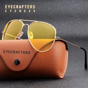 Classic Night Visión antideslumbrantes gafas de visión nocturna de conducción gafas de sol polarizadas para los hombres de la conducción de automóviles resplandor vidrios Bloque Gafas