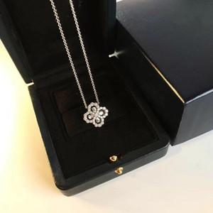 Las joyas con diamantes Loop Jardín Serie 925 collar de flores de diamantes anillo de plata pendiente de las mujeres de banquetes Collar Declaración