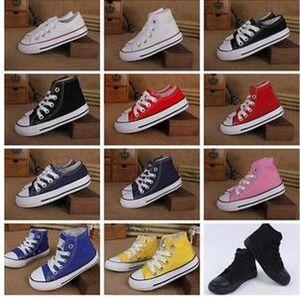 Nouvelle marque Star Kids Chaussures de toile Mode Haut Bas Chaussures enfants Garçons et Filles sport Chuck classique Chaussure de toile Taille 24-34 B11
