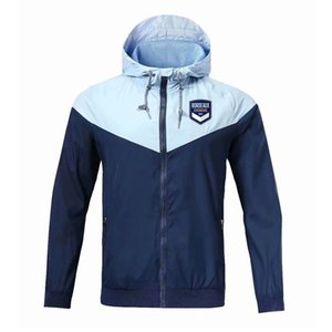 Nouveau 20 21 Bordeaux Veste à capuche coupe-vent football pleine fermeture éclair survetement 2020 2021 veste de football RC Lens sport manteau Vestes d'homme