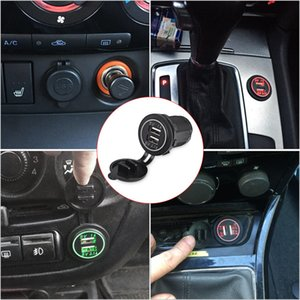 LED-Digitalanzeige Ladesteckdose Auto Power Charger Zigarettenanzünder Splitter 2.1A / 1A Dual USB Outlet 12V-24V