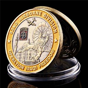 Airborne Division Iraqi Freedom Copper Plated 1oz Military Challenge Commemorative Coin Collectibles